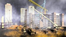 Piovosità sul cantiere Immagini Stock