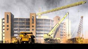 Piovosità sul cantiere Immagini Stock Libere da Diritti