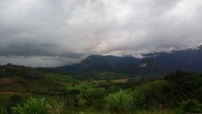 piovoso su bello di Mountain View fotografie stock