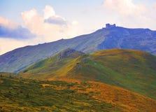 Pip Ivan berg i ukrainare Carpathians Arkivbilder