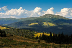 Pip Ivan mountain in Carpathians Stock Photos