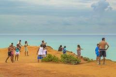 Pipa aéreo el Brasil de la escena del paisaje marino Foto de archivo libre de regalías