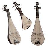Pipa. Instrumento musical del chino tradicional. Foto de archivo