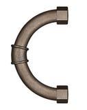 Pipe alphabet letter Stock Photo