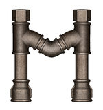 Pipe alphabet letter Stock Photography