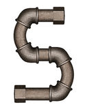 Pipe alphabet letter. Industrial metal pipe alphabet letter S royalty free stock photos