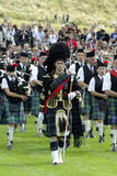 Pipe band in edinburgh Royalty Free Stock Photos