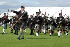 Pipe band at the gathering 2009 in Edinburgh Stock Photo