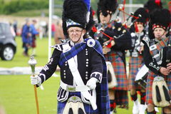 Pipe band at Newtonmore highland games