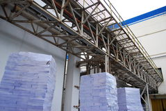 Pipe beam in pper factory. This is pipe beam in paper factory.this place is in east of thailand Stock Images