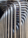 Pipe bending forming. For use in directors furniture Stock Images