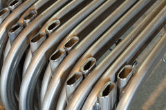 Pipe bending forming Royalty Free Stock Photos