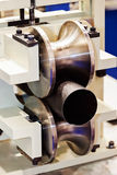 Pipe bending machine Stock Images