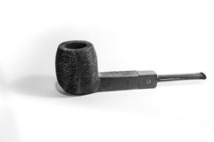 Pipe. Black pipe handcraft in wood material Royalty Free Stock Photos