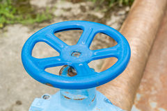 Pipe bleue Photo libre de droits