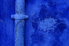 Pipe bleue photographie stock