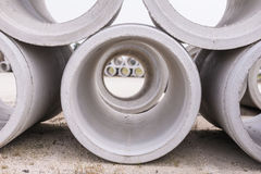 Pipe of cement Royalty Free Stock Photo