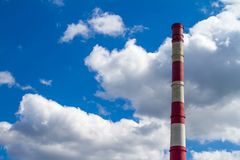 CHP pipe against the sky. Pipe CHP against the sky in Ukraine Stock Images