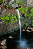 Pipe clean water. Pouring from a natural source Royalty Free Stock Photography