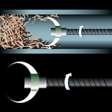 Pipe Cleaning royalty free illustration