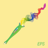 Pipe, color, brightness, sound, music. Pipe color brightness sound music Stock Image