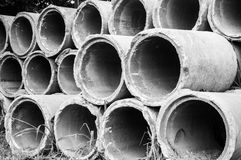 pipe concrète d'évacuation Photos libres de droits