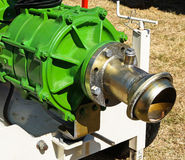 Pipe connector of the irrigation machinery Stock Photos