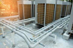Pipe cooling system. Stock Photo