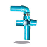 Pipe create number 7 Stock Photo