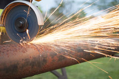 Pipe cutting. A image of pipe cutting stock images