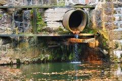 Pipe d'eaux d'égout Image libre de droits