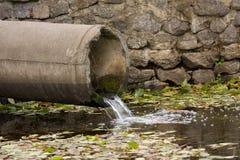 Pipe d'eaux d'égout Photographie stock