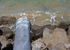 Pipe d'eaux résiduaires Photos libres de droits