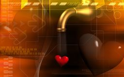 Pipe dropping love Stock Photography