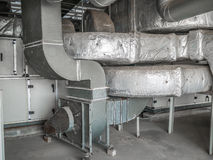 Pipe duct of air condition Stock Image