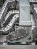 Pipe duct of air condition Royalty Free Stock Image
