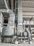 Pipe duct of air condition Royalty Free Stock Photos