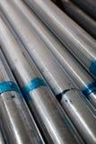 Pipe en acier empilée photo libre de droits