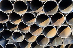 Pipe end background Stock Photo