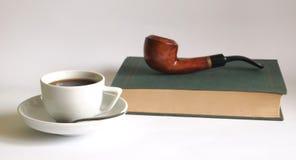 Pipe et café photo stock