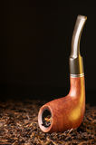 Pipe et tabac photo stock
