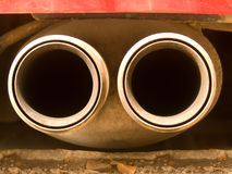 Pipe exhaust the car Stock Images