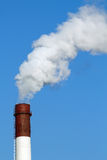 Pipe  factory   smoke  emission Royalty Free Stock Photography