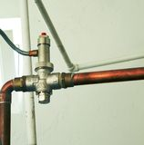 Pipe and faucet Stock Image