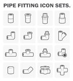 Pipe fitting icon Stock Image