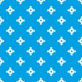 Pipe fitting pattern seamless blue Royalty Free Stock Photos
