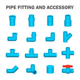 Pipe fitting vector. Vector of pipe fitting and accessory Royalty Free Stock Photo