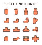 Pipe fitting vector Royalty Free Stock Images