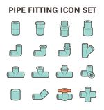 Pipe fitting vector Royalty Free Stock Photography