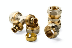 Pipe fittings Royalty Free Stock Image